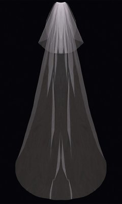 Cathedral Veil with Blusher by ENVOGUE ACCESSORY'S