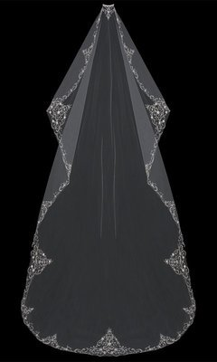 Mantilla Cut  Cathedral Veil by ENVOGUE ACCESSORY'S