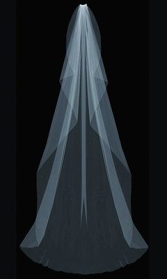 Extra Wide Cathedral Veil by ENVOGUE ACCESSORY'S