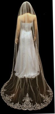 Regal Extra Wide Cathedral Veil by 1ST CLASS BRIDAL
