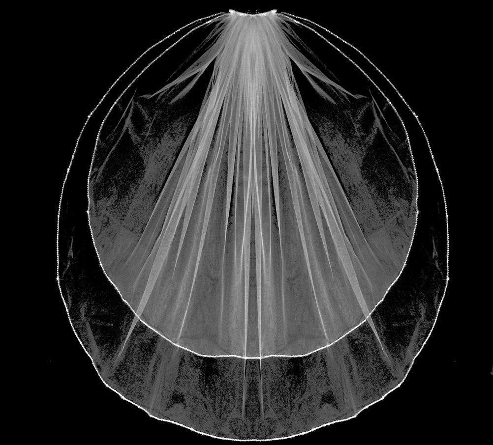 Two piece Elegant Veil