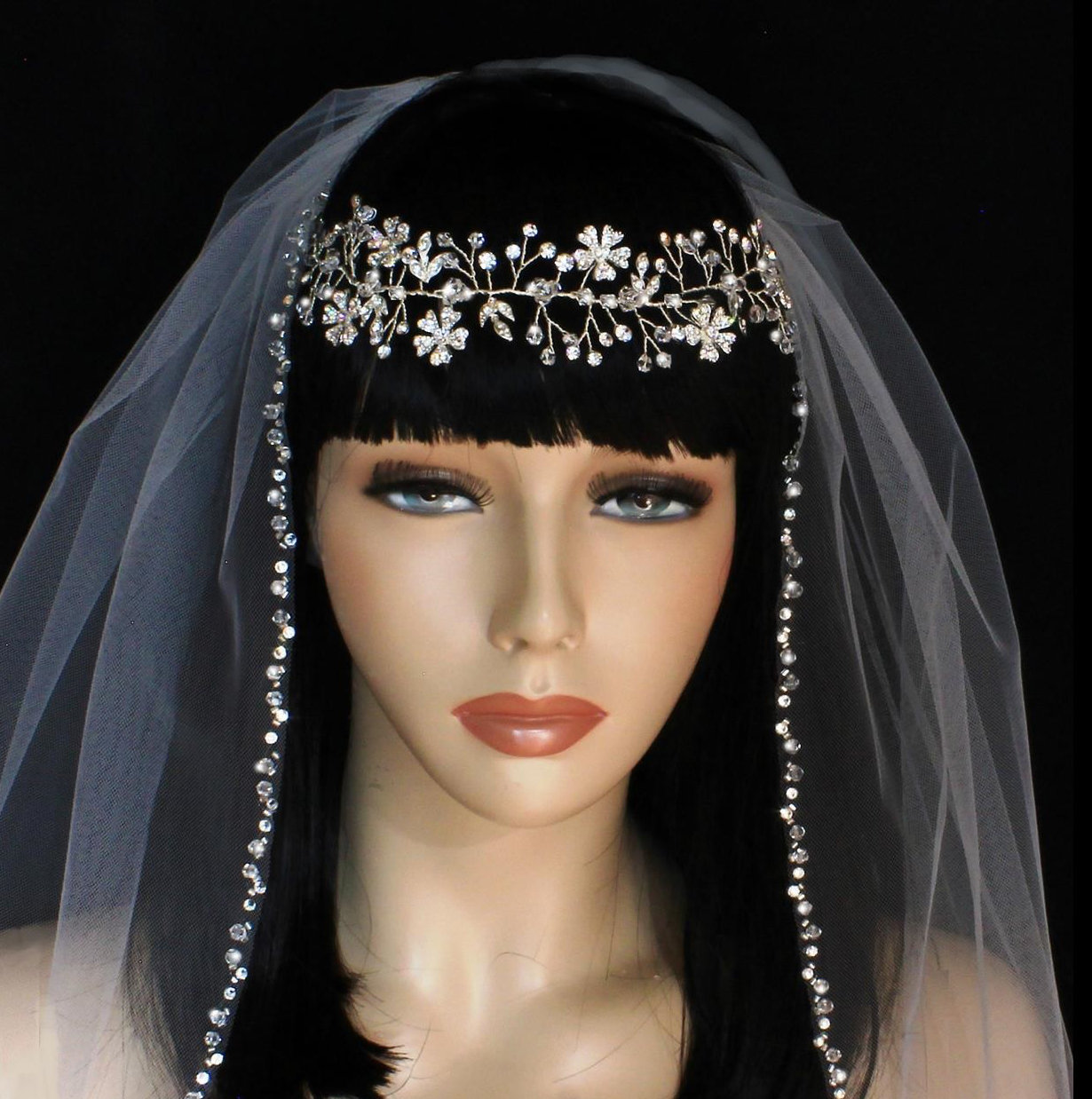 Exquisite Rhinestone Headpiece