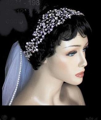 Rhinestone Flower Headband