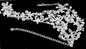 Beautiful Rhinestone Hand Jewelry  BY 1ST CLASS BRIDAL