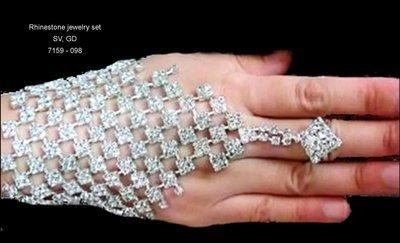 Rhinestone Net Hand Jewelry  BY 1ST CLASS BRIDAL
