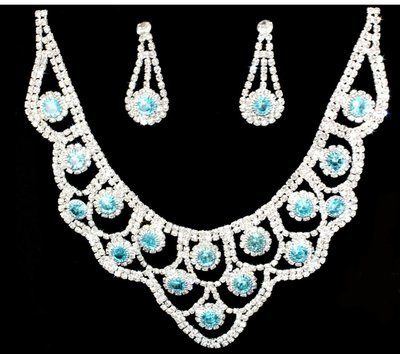 Jewelry Set with light Blue stones