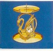 SWAN BRASS CANDLE HOLDER