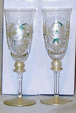 GOLD TONE WINE GLASSES