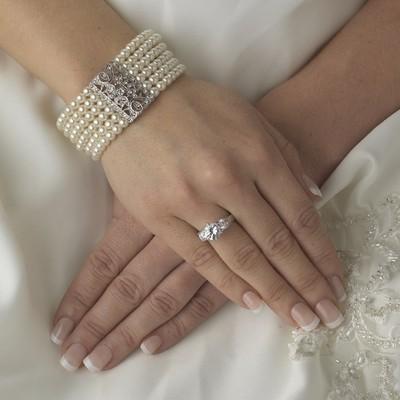 Vintage Pearl Stretch Bracelet