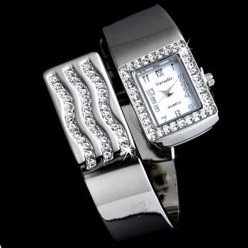 Silver Rhinestone Crystal Bridal
