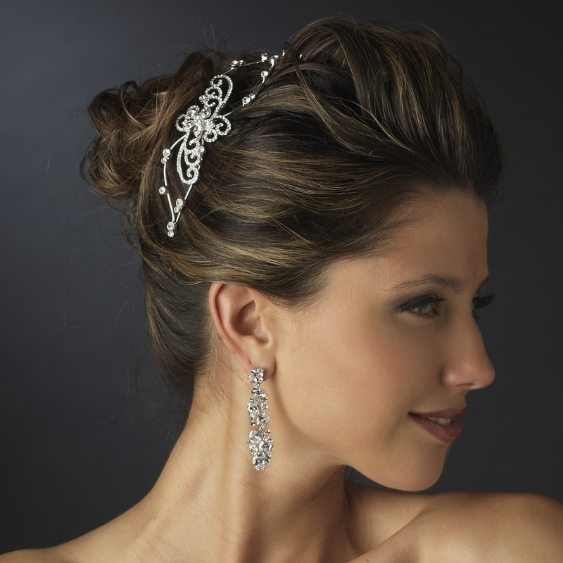 Silver Clear Headband Headpiece