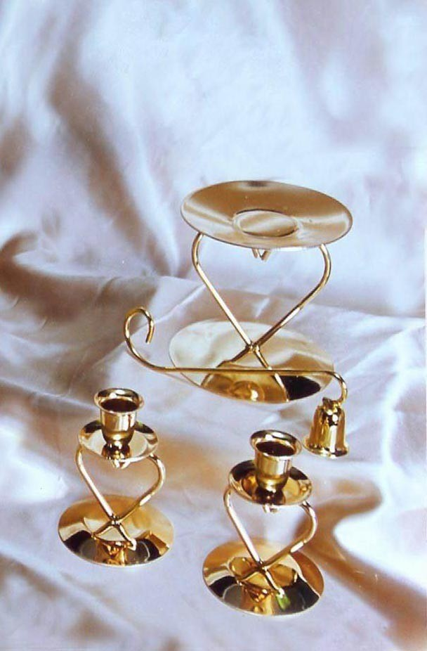 3 PIECE HEART BRASS UNITY SET