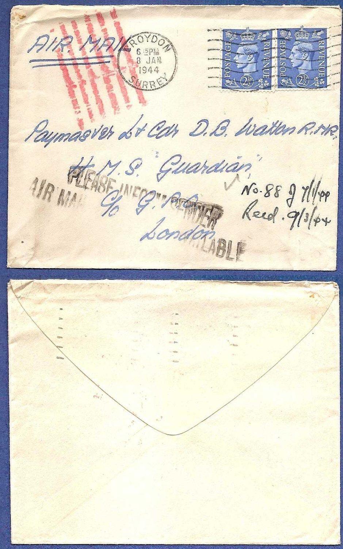 ENGLAND cover 1944 Croyden
