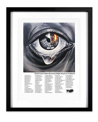 'Eyesore' Grenfell Tower Tribute  (signed limited edition prints) A3 Framed