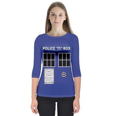 TARDIS-Inspired Raglan T