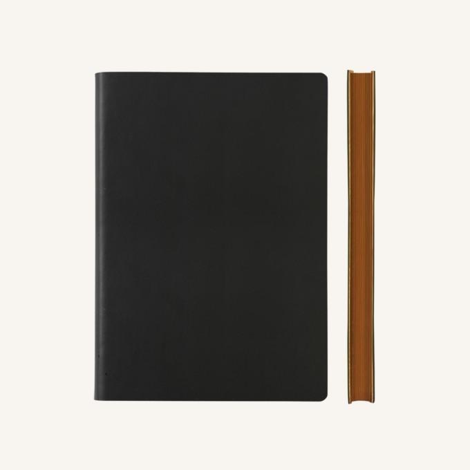 Signature kockás jegyzetfüzet - A5 , fekete