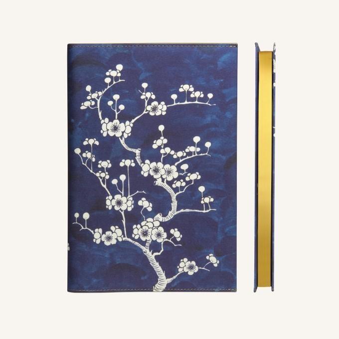 Flower Wow vonalas jegyzetfüzet - A5 , ceramic blue