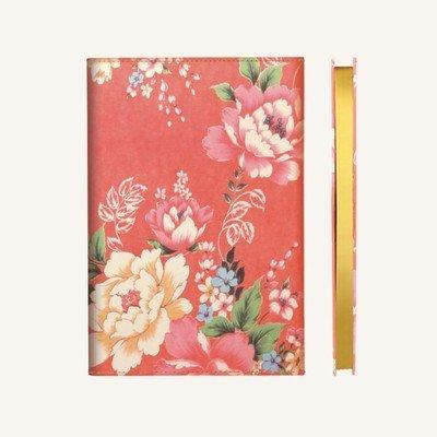 Flower Wow vonalas jegyzetfüzet - A5 , piros