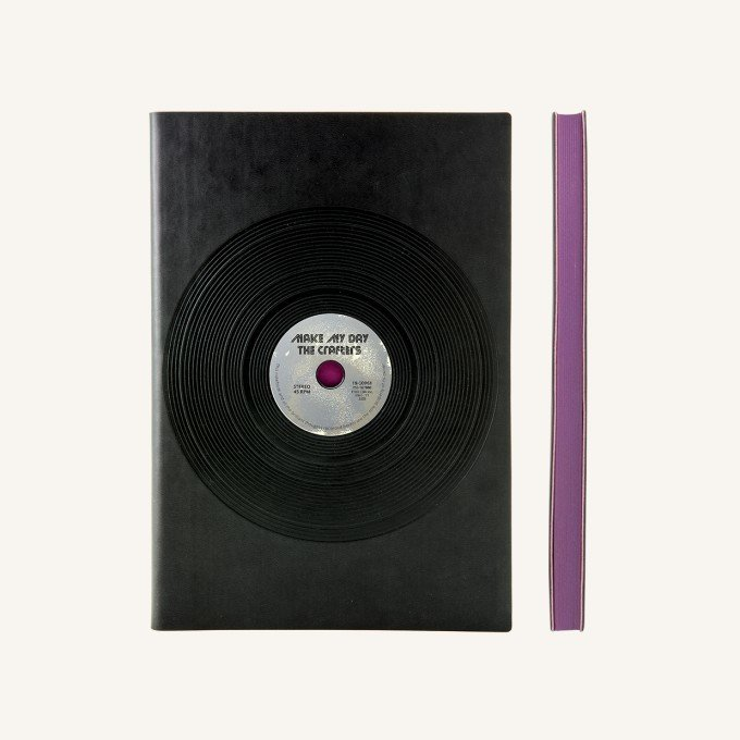 Signature Retro sima üres lapos jegyzetfüzet - A5 , Vinyl