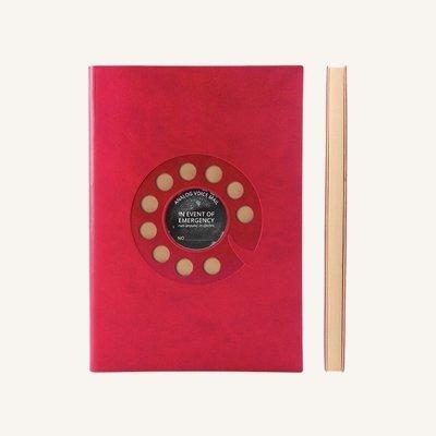 Signature Retro sima üres lapos jegyzetfüzet - A5 , Tárcsás