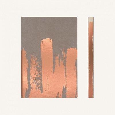 Signature Paint Art üres lapos jegyzetfüzet -A5 ,Réz
