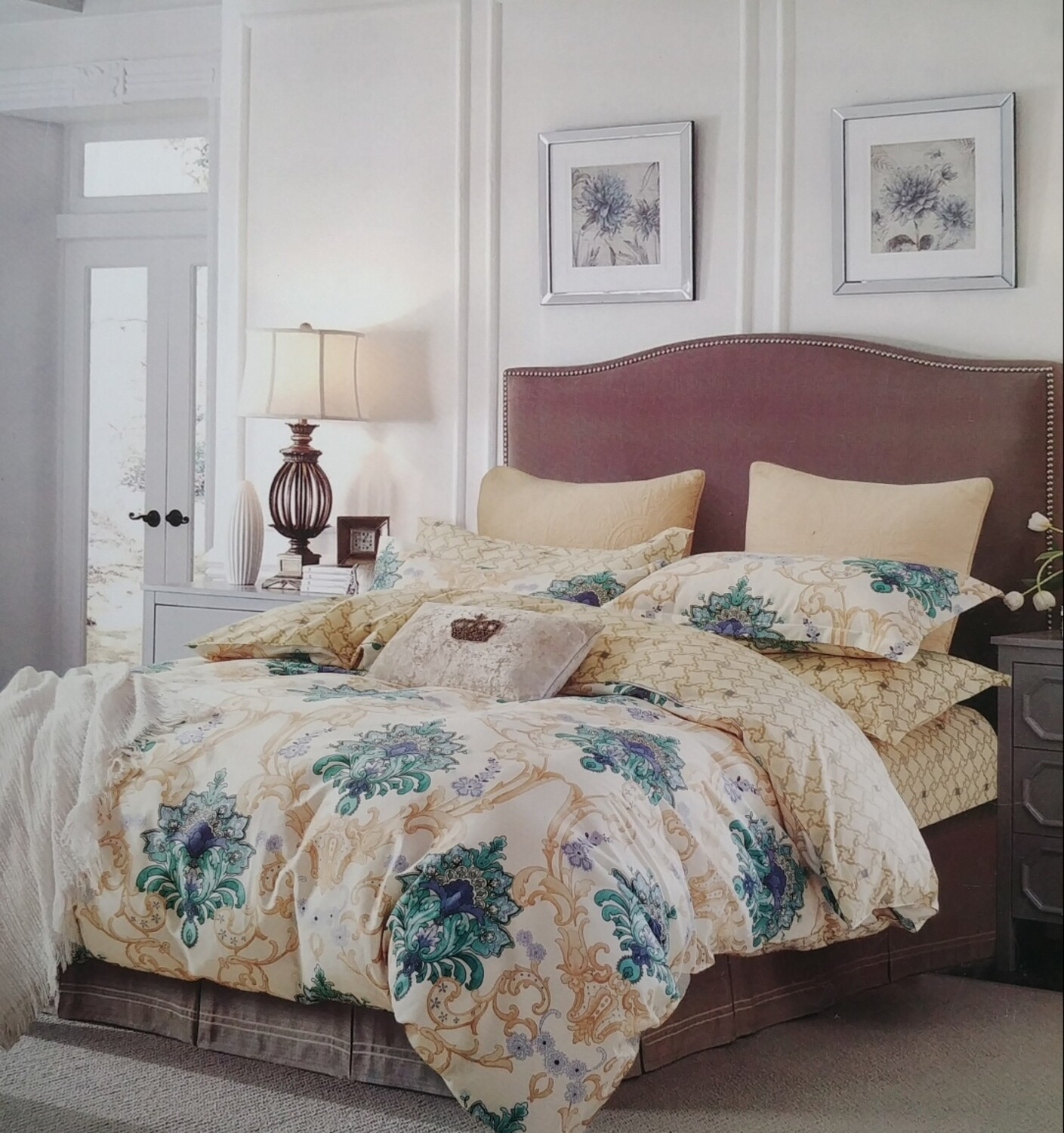 Painted Leaf Bedding Set