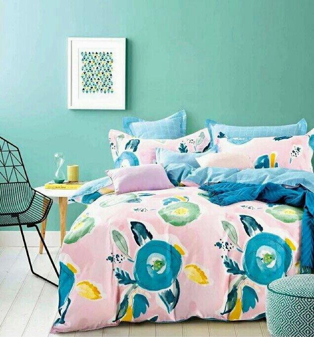 Painted leaf floral bedding set