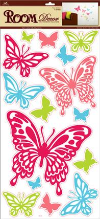 RDA3196V. Наклейки бабочки. Размеры: 32х60 см. Количество: 15 элементов. Материал: ПВХ, влагостойкие.
