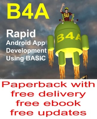 Paperback B4A Book with free delivery, eBook and updates