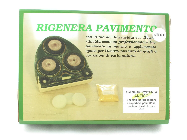 Regenerate Ancient Floor kit to restore marble, travertine and limestone