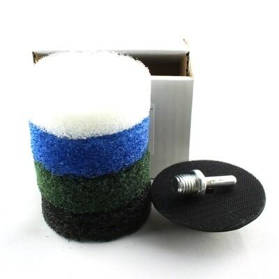 Nylon fiber abrasive pads 3inch - 4 grits set PLUS