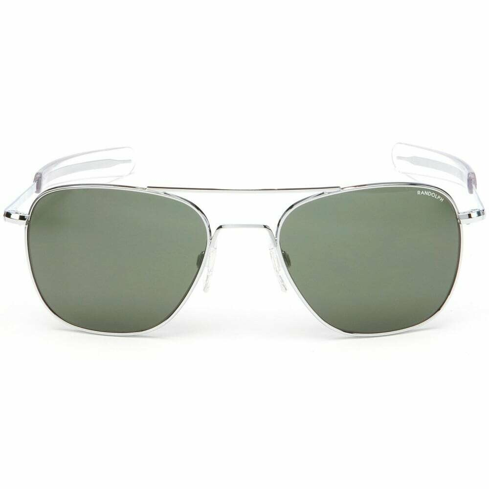 Randolph Aviator Bright Chrome Bayonet Sunglasses 55mm SkyTec AGX Lens