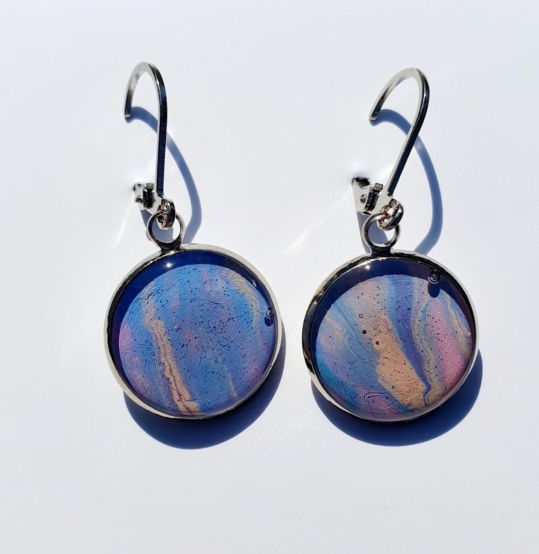 Earrings - pastels - plain dangle