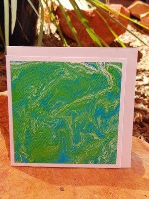 Card - Fluid Art 34