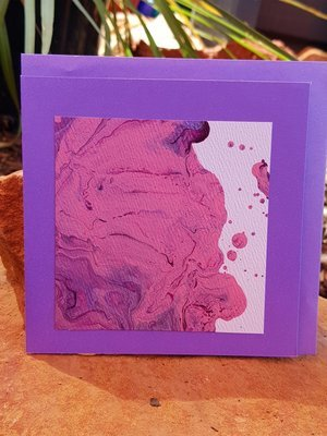 Card - Fluid Art 48