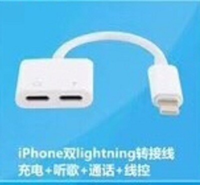 Dual Female Lightning Ports Adapter
