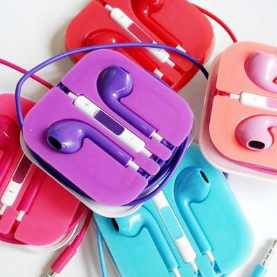 Earphone with Mic Remote ( Colorful )