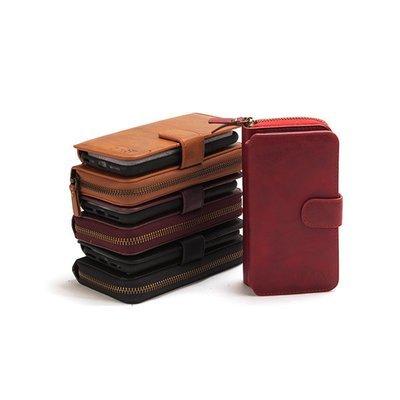 Apple iPhone 7 Plus 8 Plus Classic Zip Wallet Case ( Leather Style )