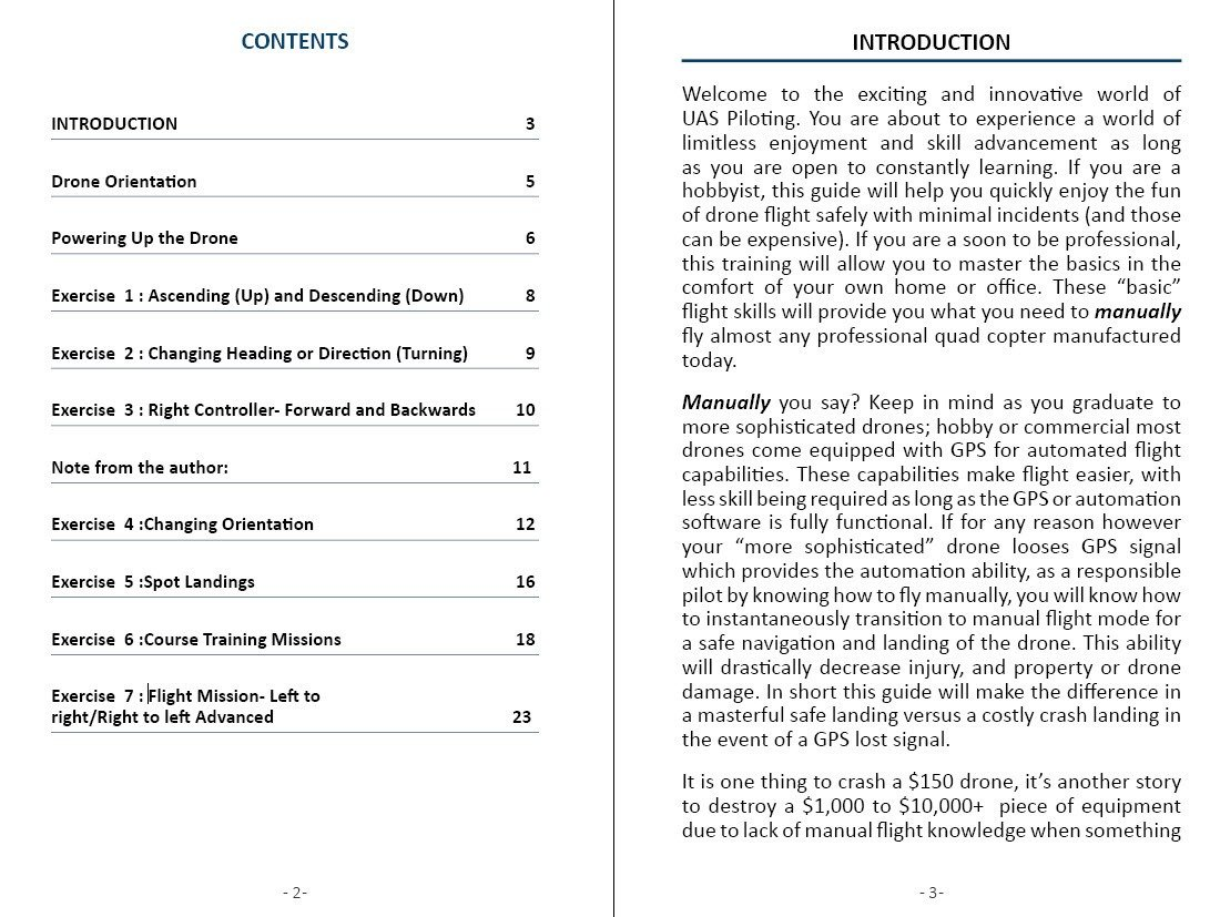 Downloadable - Drone basic flight manual