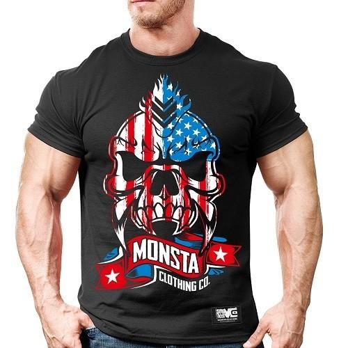 Мужская спортивная футболка Monsta USA Skull-256