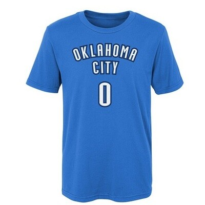 Мужская футболка NBA Westbrook Blue