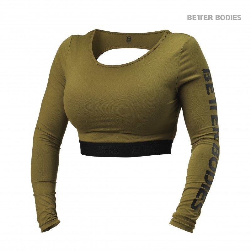 Спортивный женский топ с длинными рукавами Better Bodies Chelsea Cropped L/S