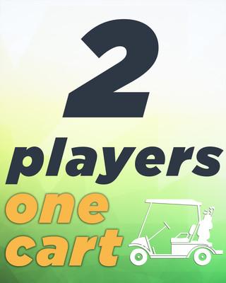 2 Players & Golf Cart