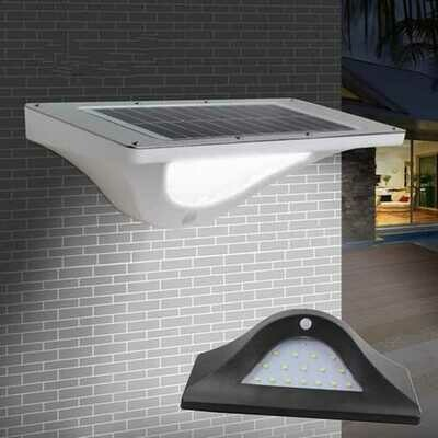 Solar Power 16 LED Wall Light PIR Motion Sensor Outdoor Waterproof Garden Security Lamp