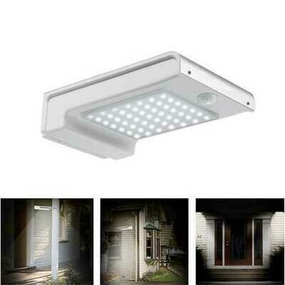 2W Solar Powered 49 LED Motion Sensor Wall Light Waterproof Outdoor Garden Security Lamp