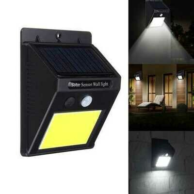 Solar Power 48 LED PIR Motion Sensor Wall Light  Waterproof Outdoor Garden Lamp