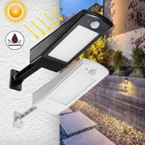Solar powered Motion Sensor 48 LED Street Light Waterproof Adujustable Wall Lamp for Outdoor Garden