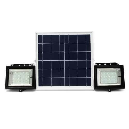 2Pcs Remote Control 80 LED Flood Light  Dimmable Timer Waterproof Solar Light Street Light