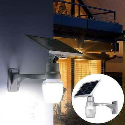 6W Solar Power LED Light Sensor LED Security Spotlight Wall Outdoor Garden Light Waterproof