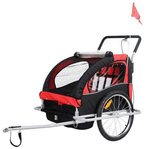 2 in 1 Double Child Baby Bike Trailer